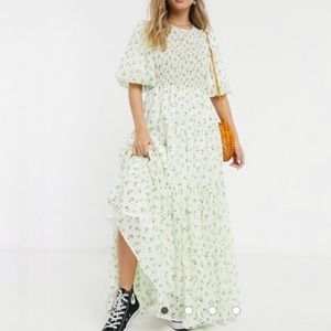 ASOS Floral Shirred Tiered Maxi Dress